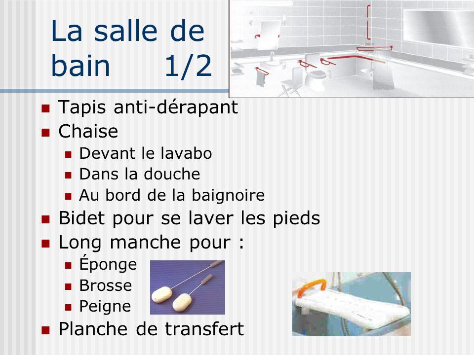 La salle de bain 1/2 Tapis anti-dérapant Chaise
