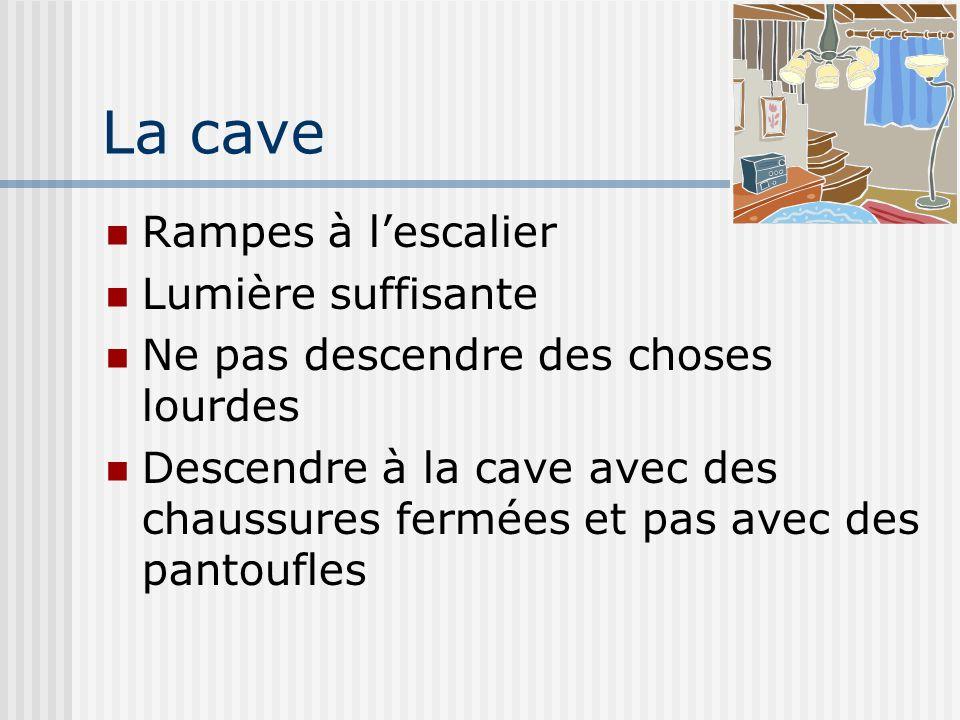 La cave Rampes à l'escalier Lumière suffisante