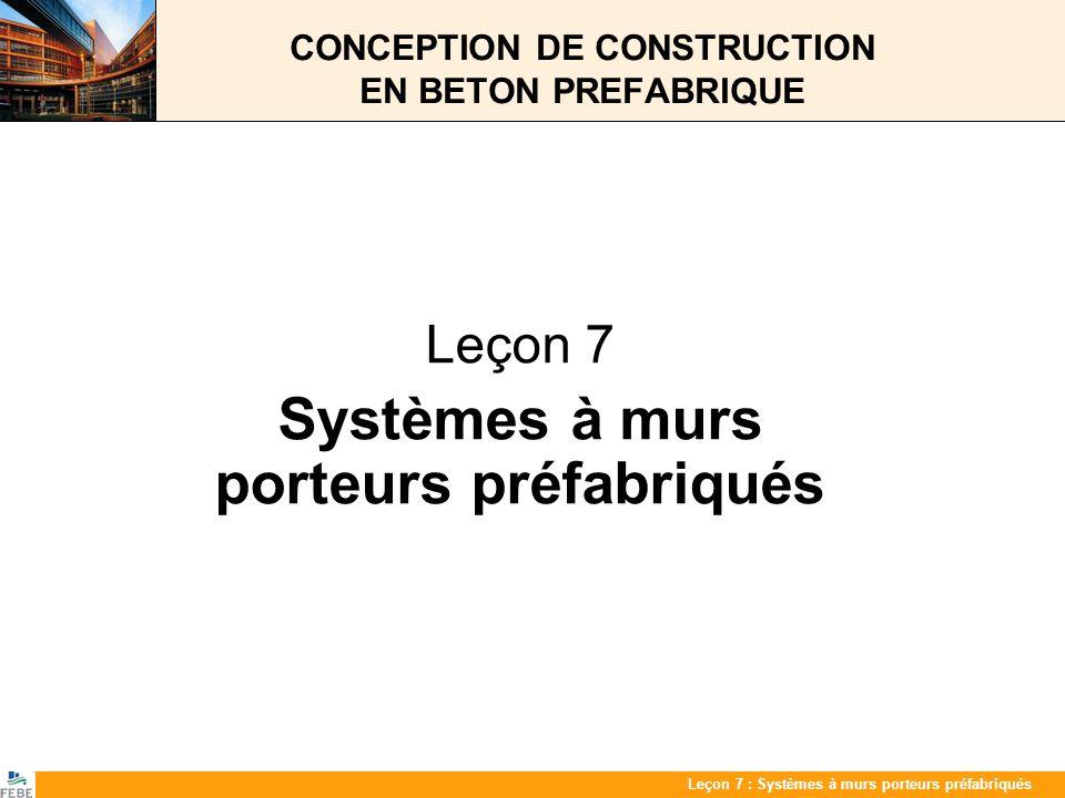 CONCEPTION DE CONSTRUCTION EN BETON PREFABRIQUE