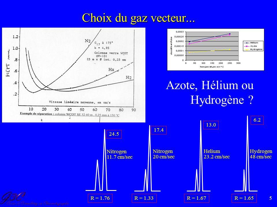 Azote, Hélium ou Hydrogène
