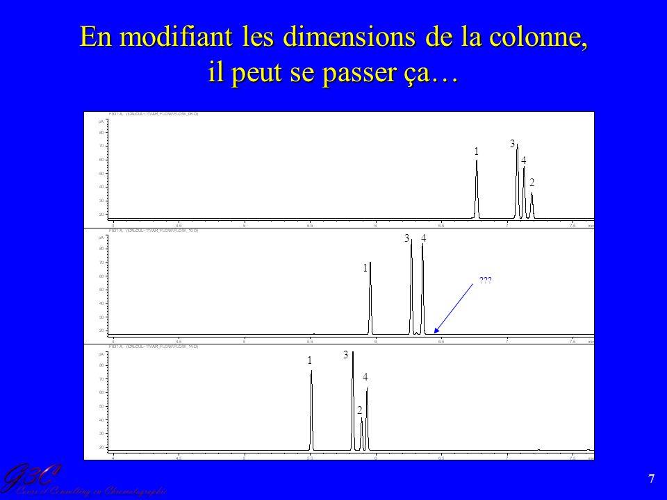 En modifiant les dimensions de la colonne, il peut se passer ça…