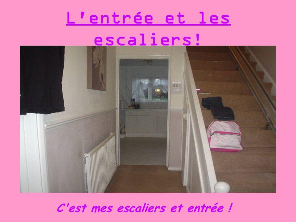 L entrée et les escaliers!