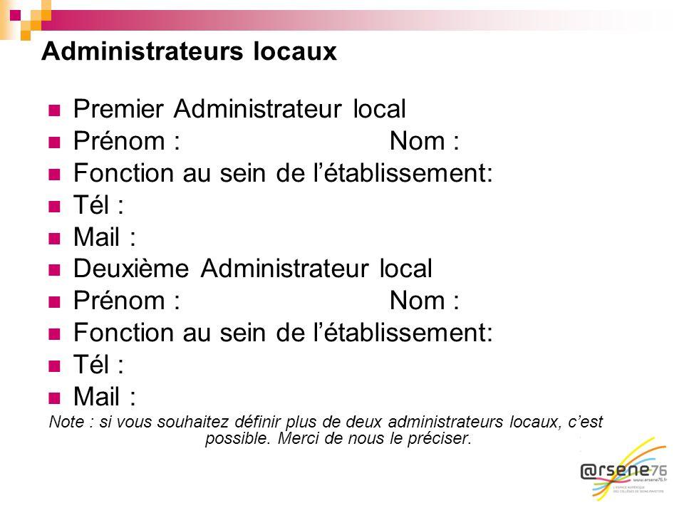 Administrateurs locaux