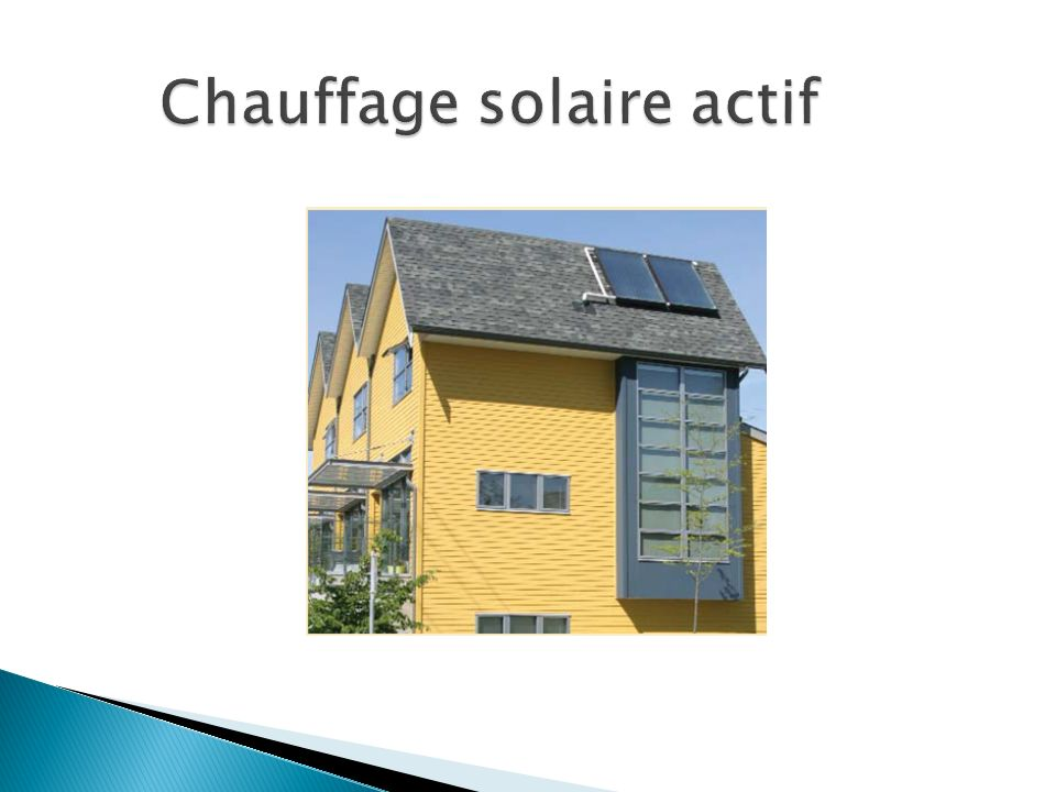 Chauffage solaire actif