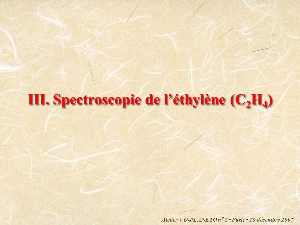 III. Spectroscopie de l'éthylène (C2H4)