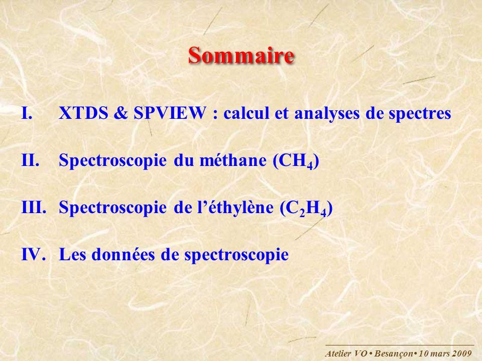 Sommaire XTDS & SPVIEW : calcul et analyses de spectres