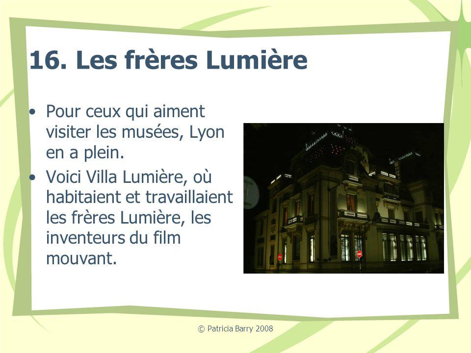 16. Les frères Lumière Pour ceux qui aiment visiter les musées, Lyon en a plein.