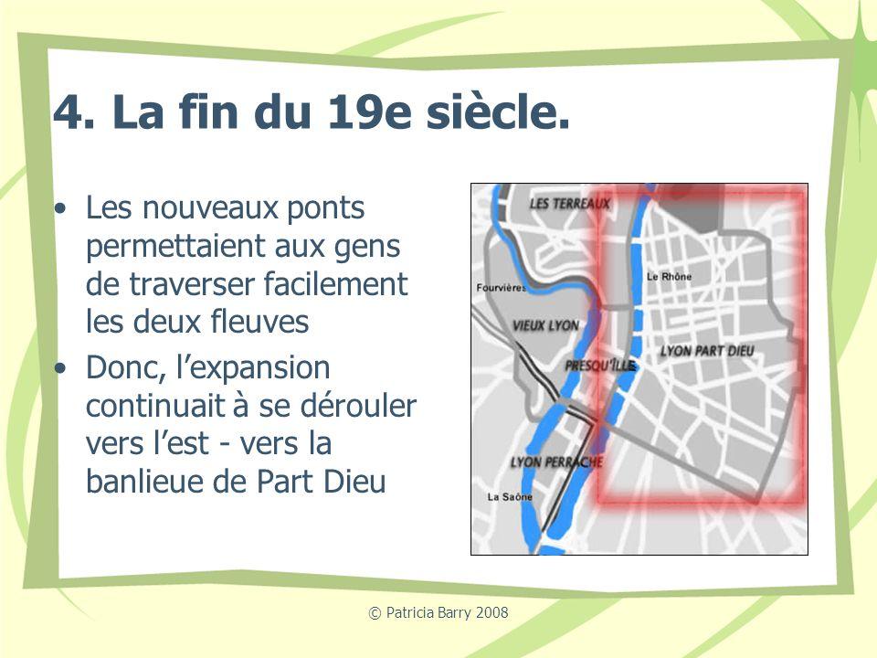 4. La fin du 19e siècle. Les nouveaux ponts permettaient aux gens de traverser facilement les deux fleuves.