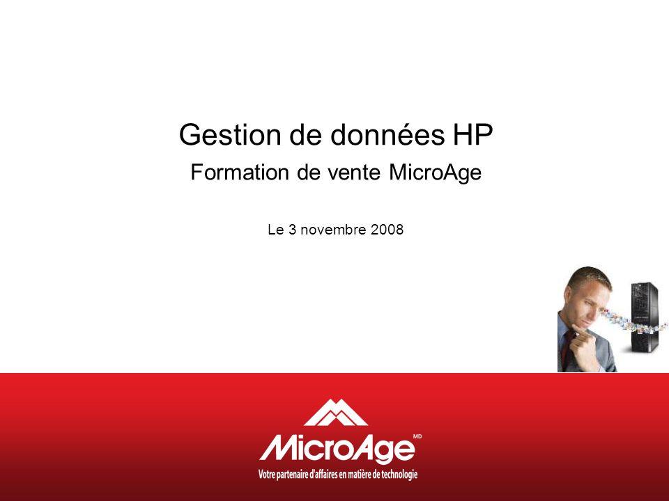 Gestion de données HP Formation de vente MicroAge