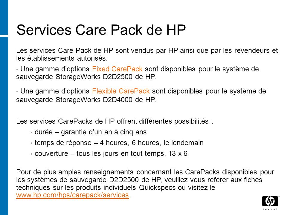 Services Care Pack de HP