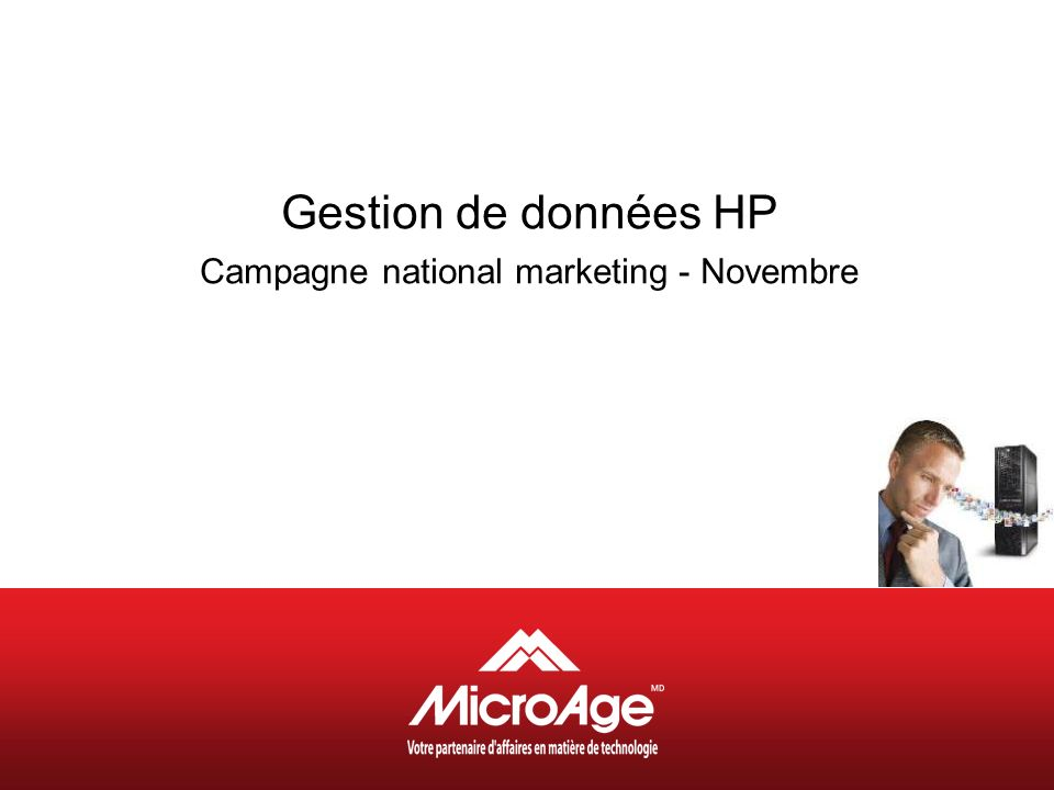 Gestion de données HP Campagne national marketing - Novembre