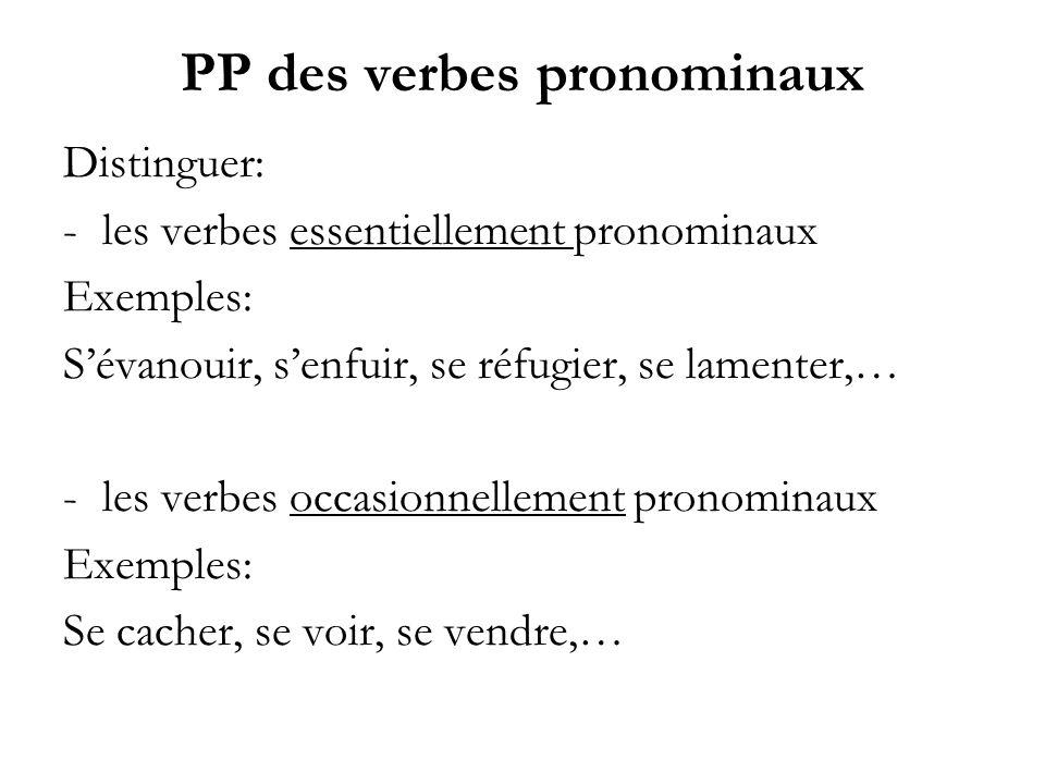 PP des verbes pronominaux