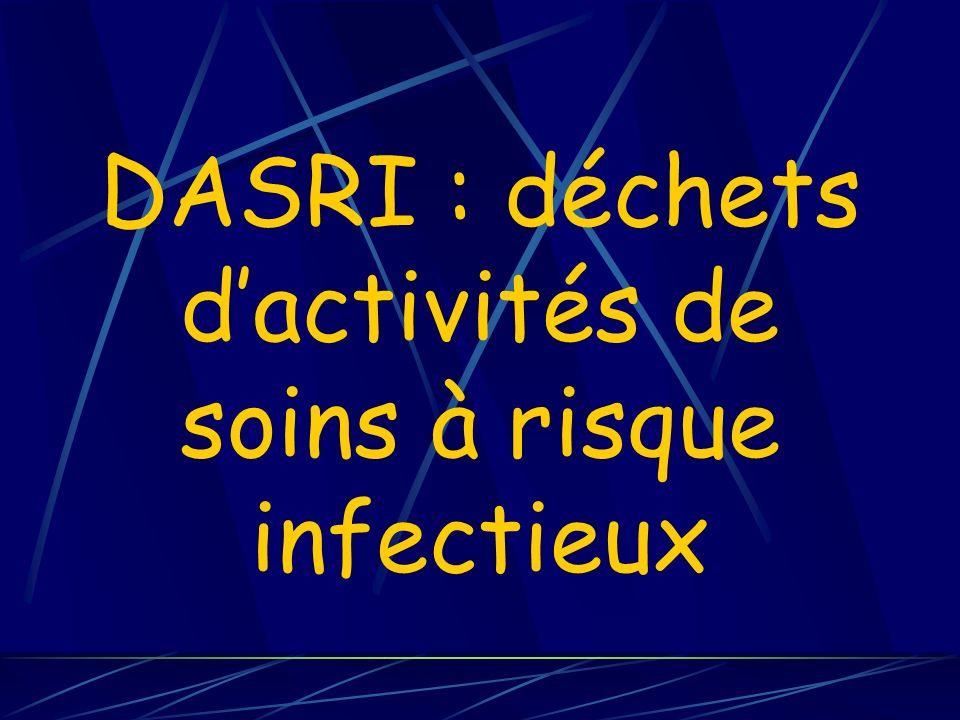DASRI : déchets d'activités de soins à risque infectieux