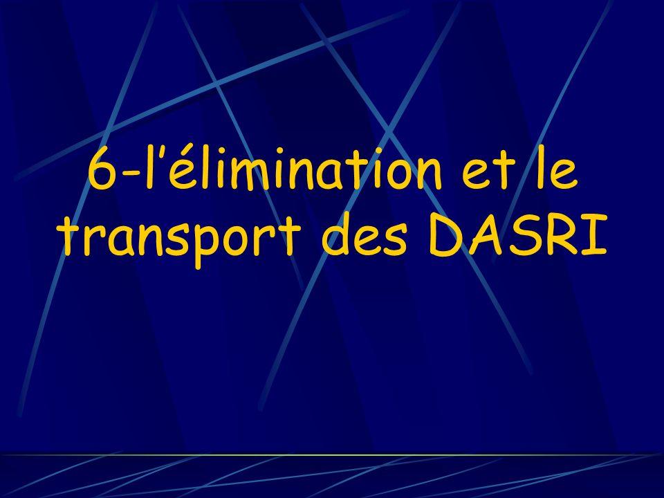 6-l'élimination et le transport des DASRI