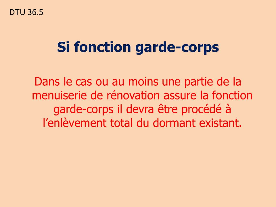 Si fonction garde-corps