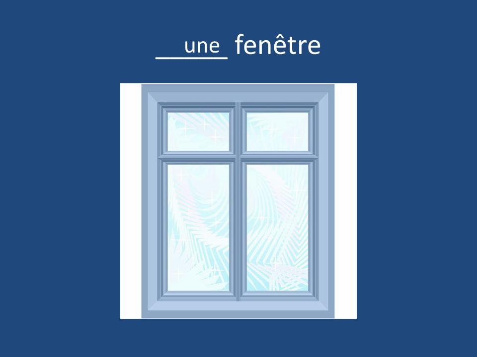_____ fenêtre une