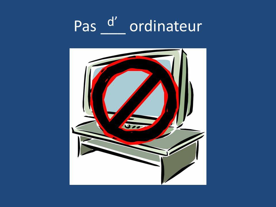 Pas ___ ordinateur d'
