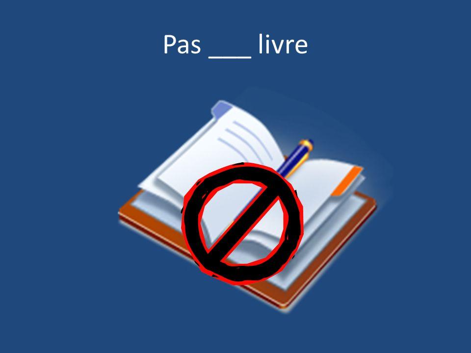 Pas ___ livre