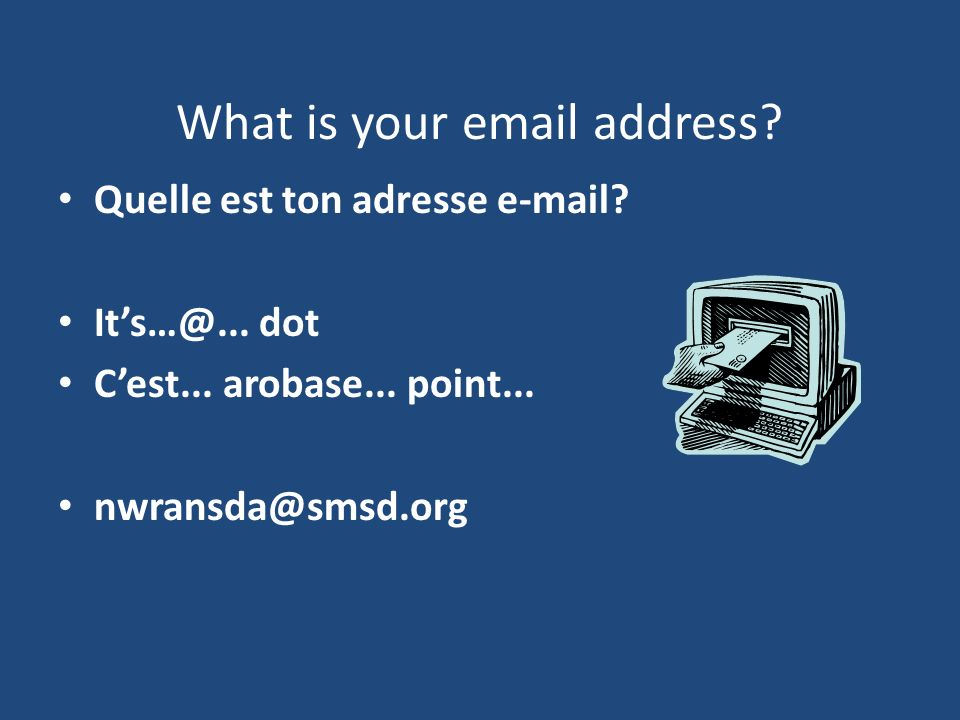 What is your email address