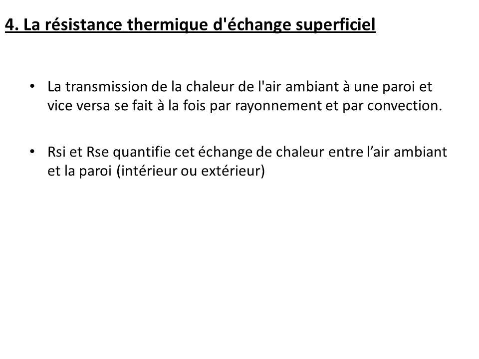 4. La résistance thermique d échange superficiel