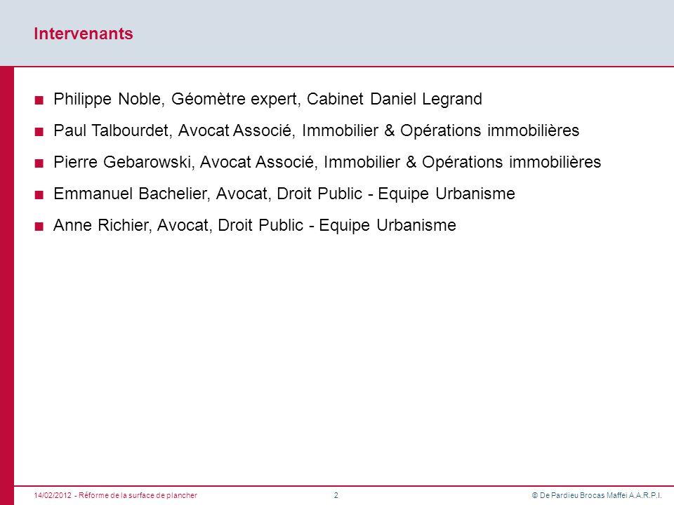 Philippe Noble, Géomètre expert, Cabinet Daniel Legrand