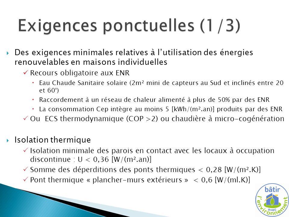 Exigences ponctuelles (1/3)