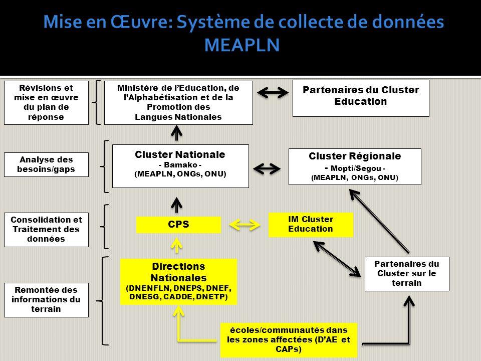 Mise en Œuvre: Système de collecte de données MEAPLN