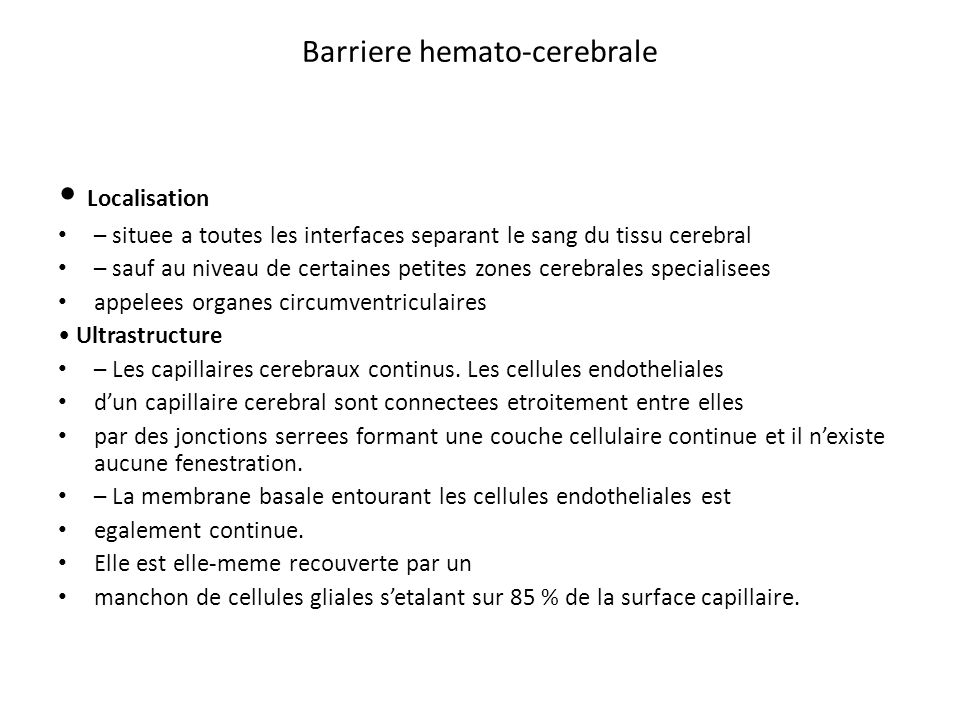 Barriere hemato-cerebrale
