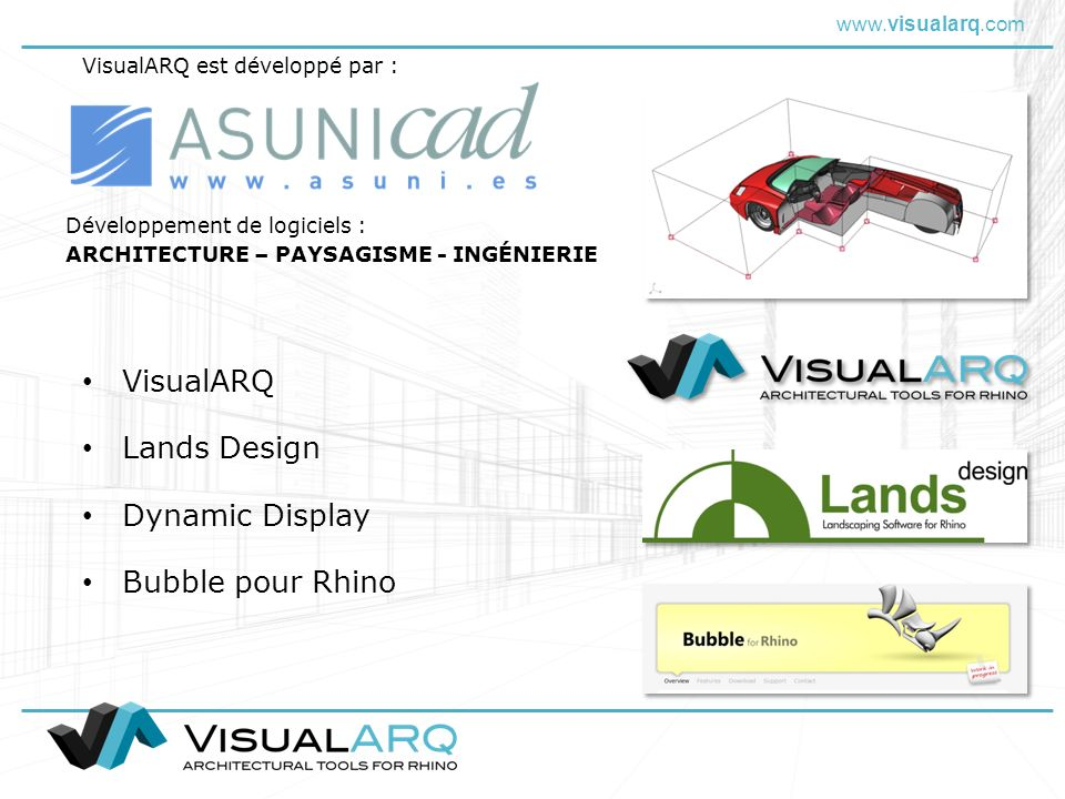 VisualARQ Lands Design Dynamic Display Bubble pour Rhino