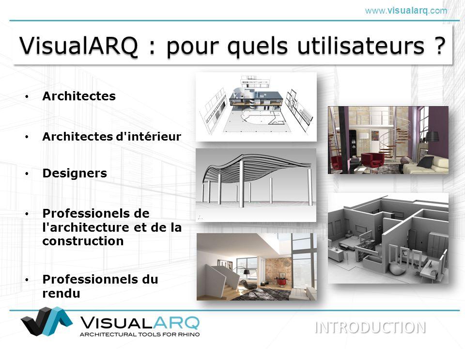 VisualARQ : pour quels utilisateurs