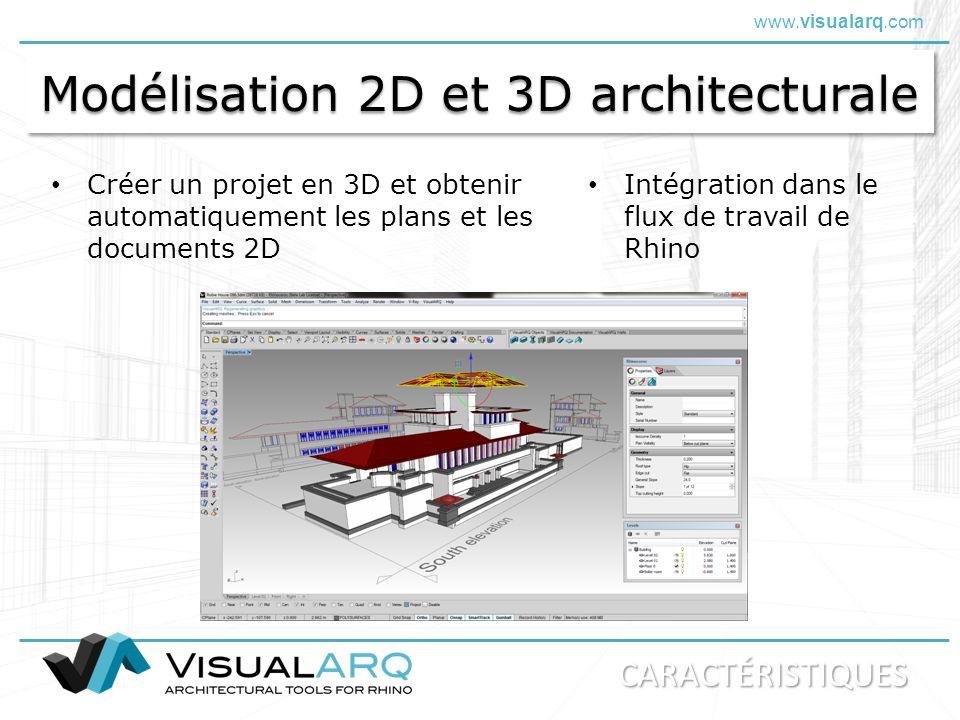 Modélisation 2D et 3D architecturale