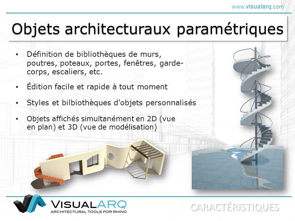 Objets architecturaux paramétriques