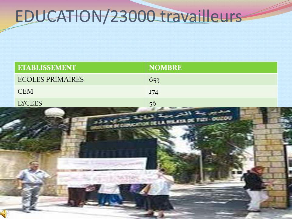 EDUCATION/23000 travailleurs