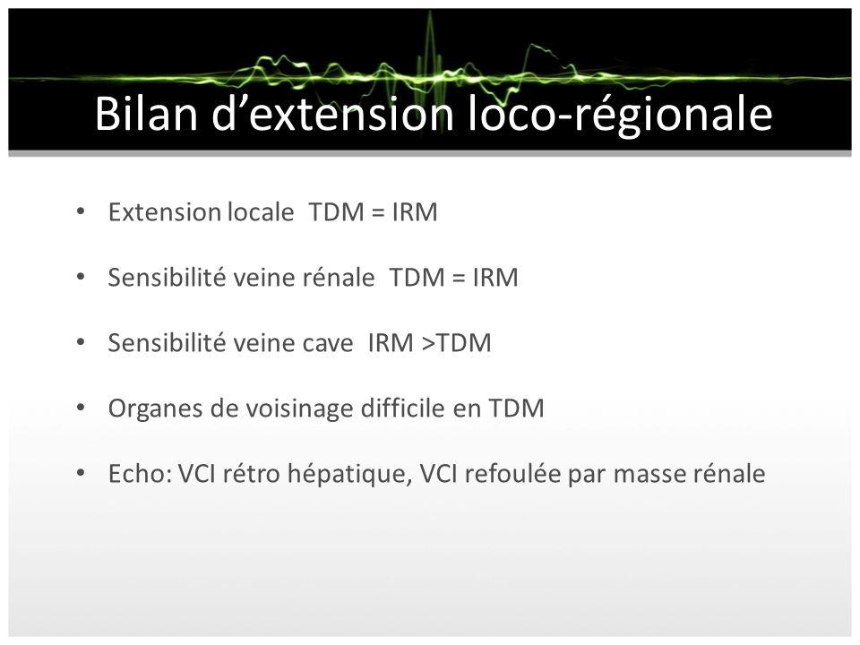 Bilan d'extension loco-régionale