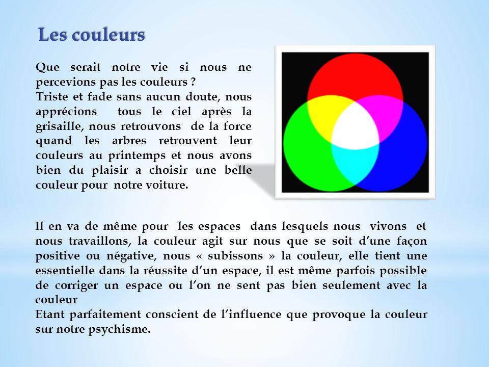 Les couleurs Que serait notre vie si nous ne percevions pas les couleurs