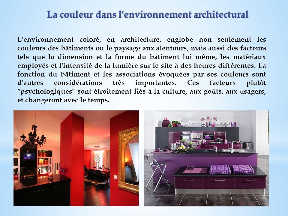 La couleur dans l environnement architectural