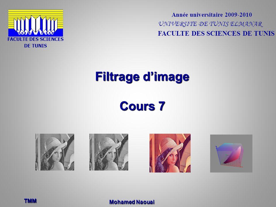 Filtrage d'image Cours 7