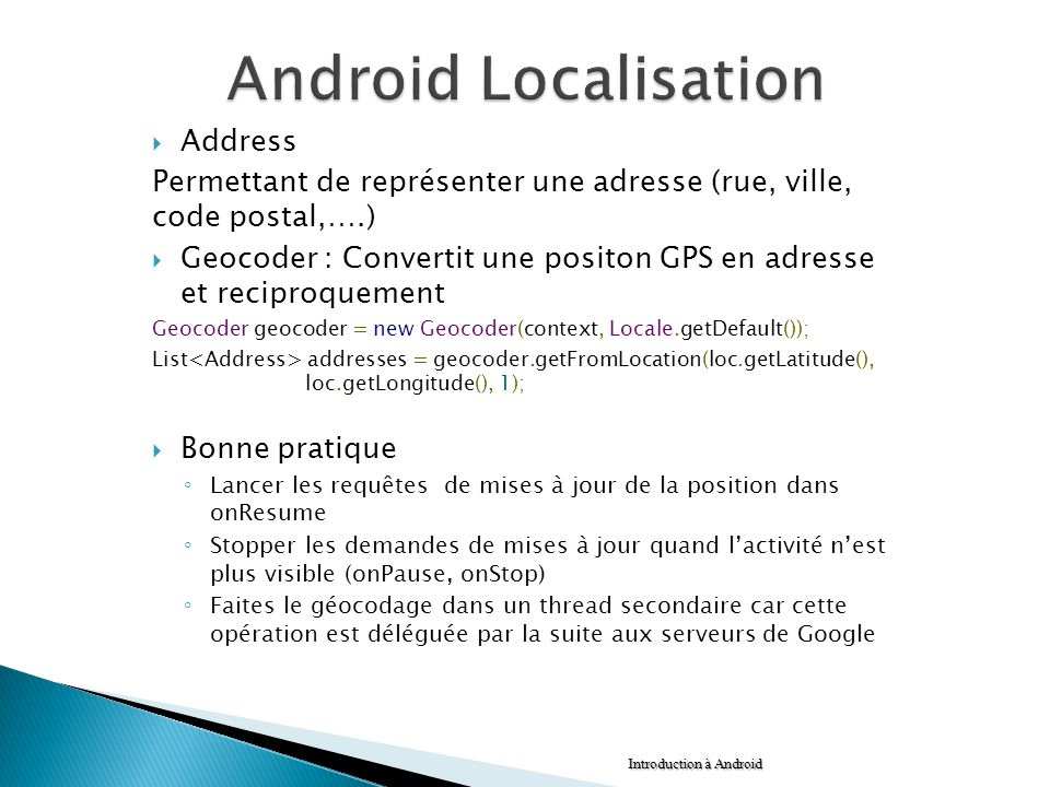 Android Localisation Address