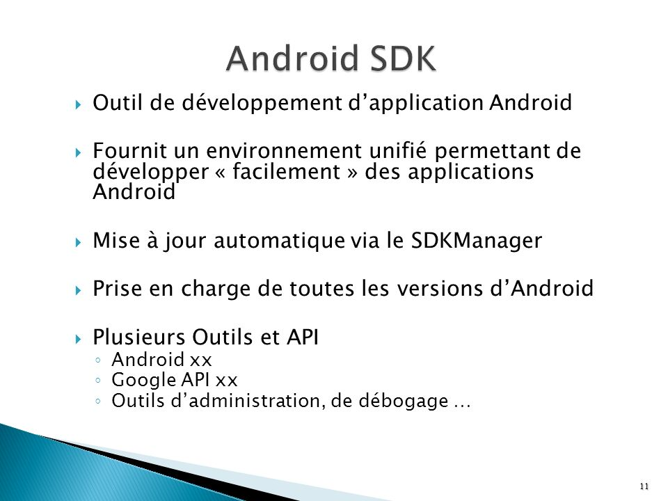Android SDK Outil de développement d'application Android