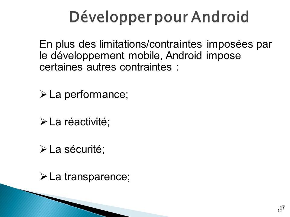 Développer pour Android