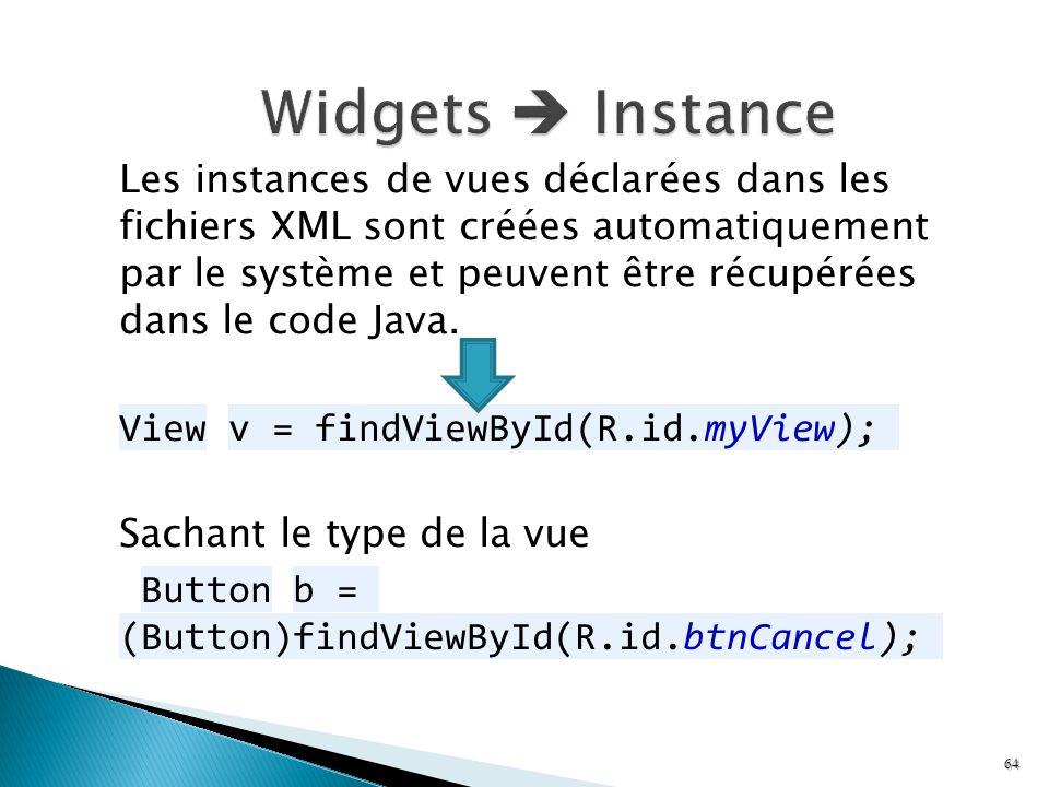 Widgets  Instance