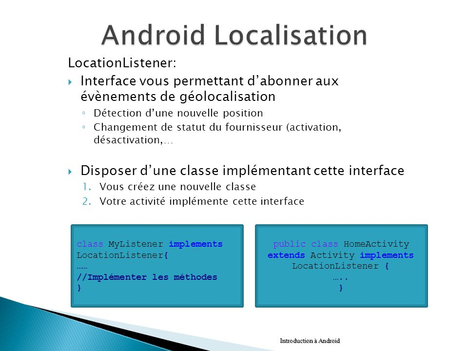 Android Localisation LocationListener: