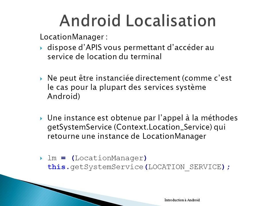 Android Localisation LocationManager :