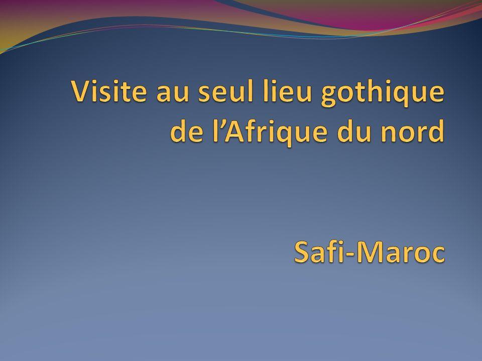 Visite au seul lieu gothique de l'Afrique du nord Safi-Maroc