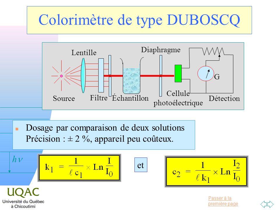 Colorimètre de type DUBOSCQ
