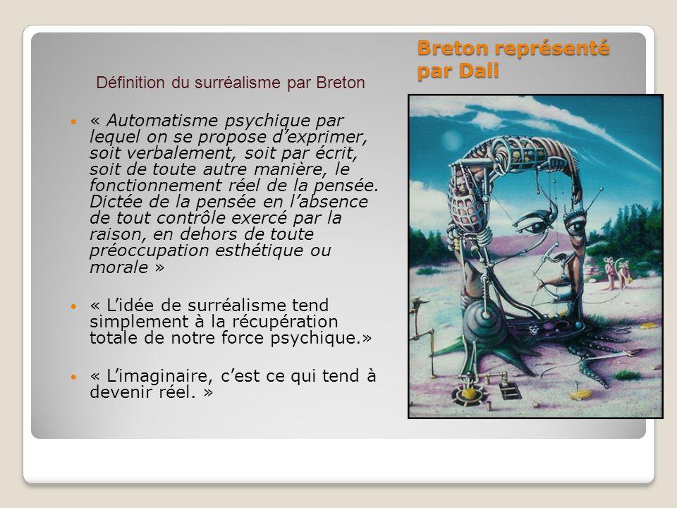 Breton représenté par Dali