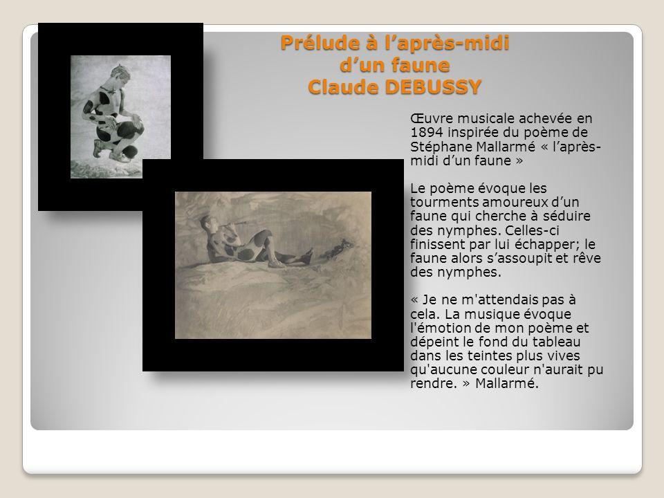 Prélude à l'après-midi d'un faune Claude DEBUSSY