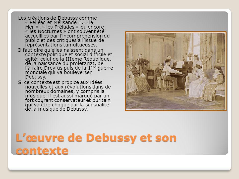 L'œuvre de Debussy et son contexte