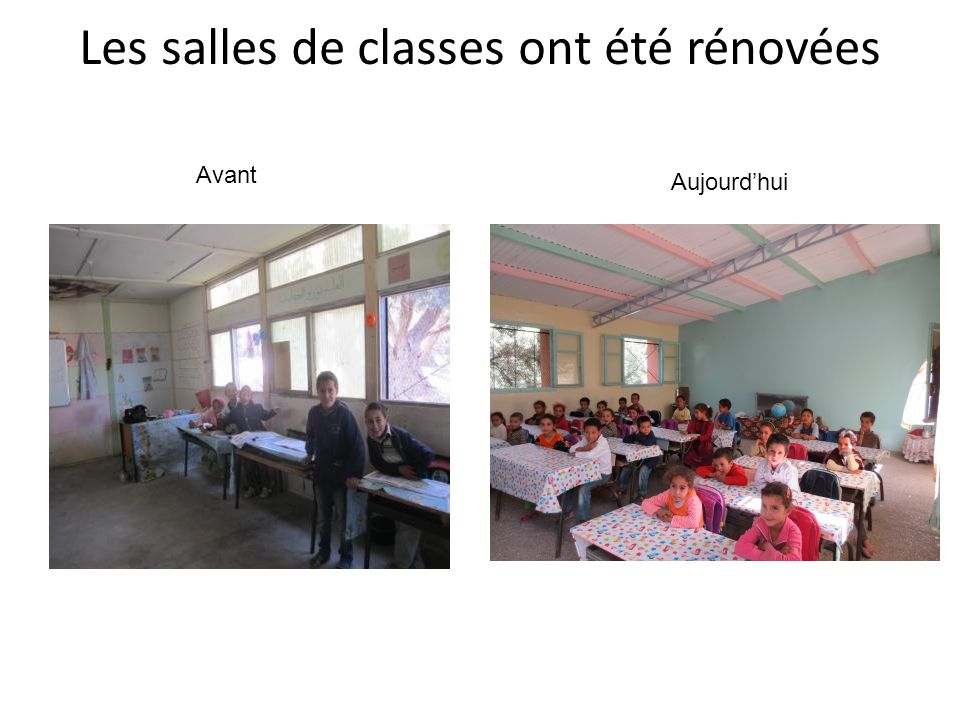Les salles de classes ont été rénovées