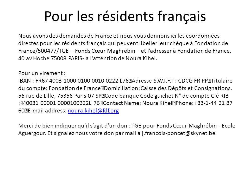 Pour les résidents français